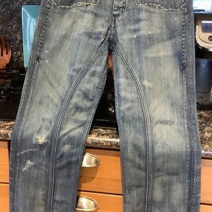 ANTIK DENIM Mens Jeans SZ 33 Faded Distressed